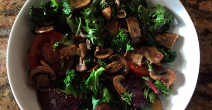 Warm Queen Kale Salad - Photo courtesy of Linda Coogan