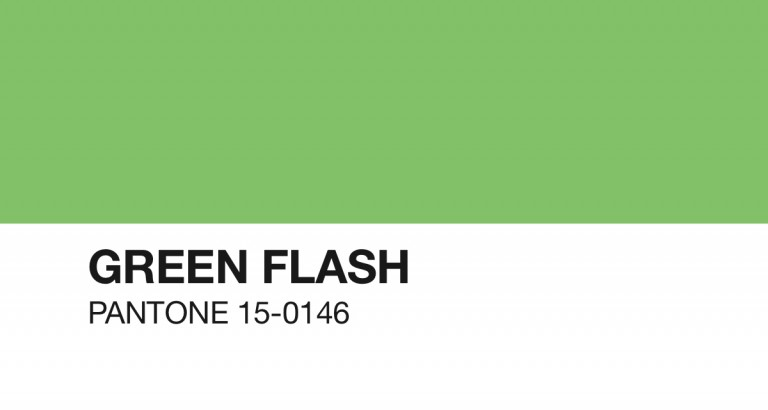 Pantone Green Flash